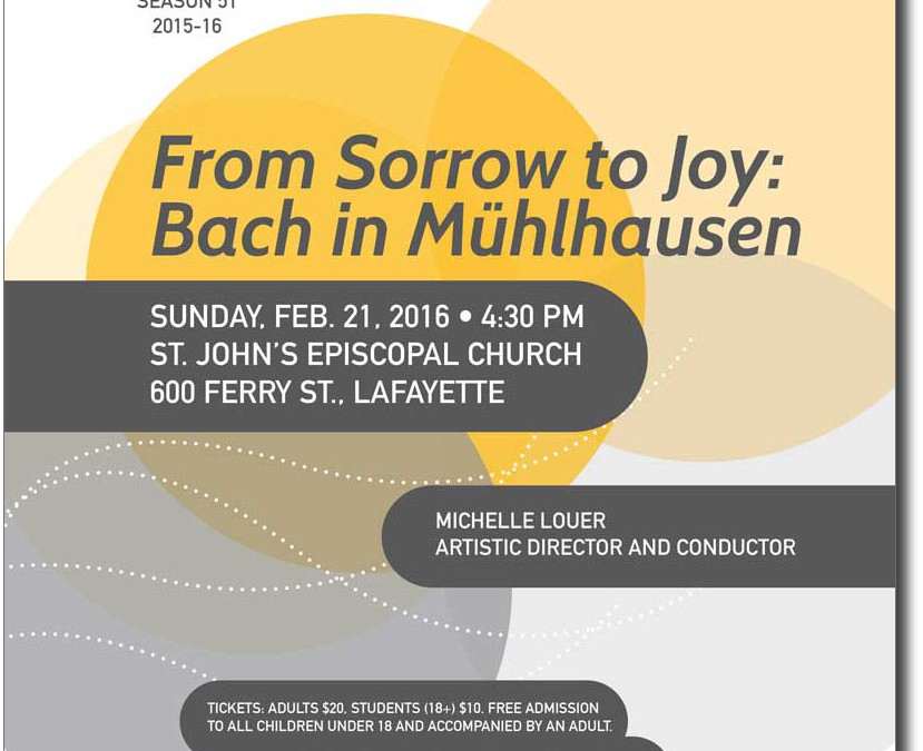 The Bach Chorale Singers show posters