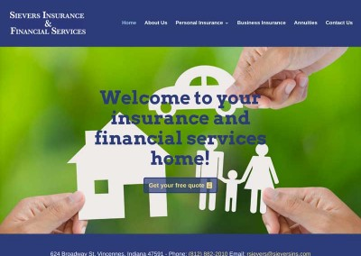 Sievers Insurance & Financial Services website